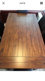 Dark Wood Table & 6 Chairs (Zocalo)