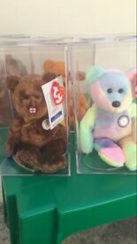 Collectable Ty Bears with tags in boxes