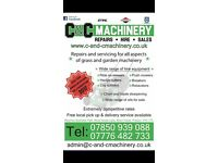 C & C Grass Machinery - we repair, service, hire & Sell