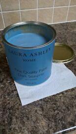 Laura Ashley Matt Emulsion Paint - Dark Seaspray - almost 2.5 litres