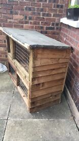 solid wood guinea pig or rabbit hutch