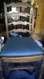 4 x Solid Oak - Family Dining Chairs Solid Oak