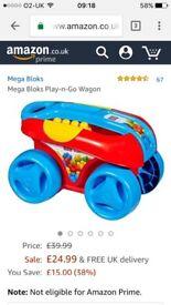 Megablocks pull along wagon