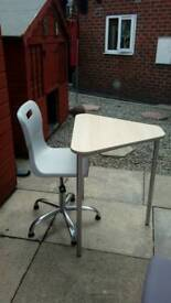 Gas lift swivel chair and computer table bargain £10 for both