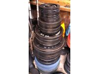 167.5kg Body Power Olympic Cast Iron Weight Plates