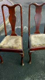 2 old dining chairs