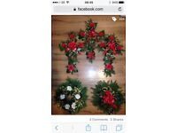 Home made Grave and door wreaths