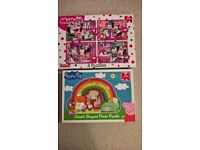 Children's Puzzles: Peppa Pig and Minnie Mouse - Excellent Condition