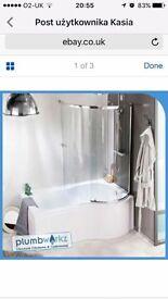 P shaped Bath panel