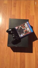 PS4 Charcoal black 1TB, including the official wireless ps4 headphones and black ops 3, 1 controller