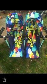Twin pram