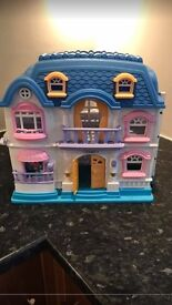 Plastic toy dolls /play house