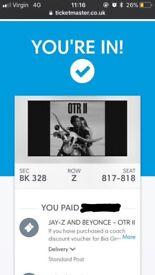 2x Beyoncé & Jay-Z - OTR II Tour - Manchester Etihad Stadium (13/06/18)