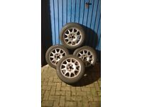 4 x 205/55 R16 Bridgestone Blizzak 30 winter tyres on SAAB alloy rims, also fits some Vauxhall cars.