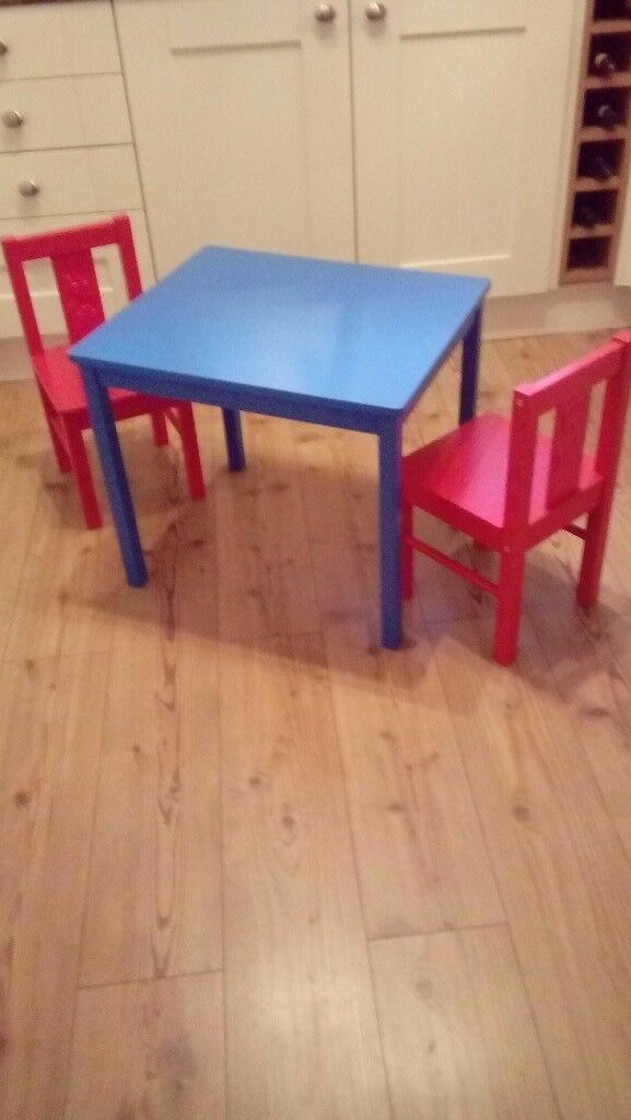Ikea childrens table & 2 chairs