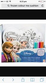 Frozen colour yourself cushion