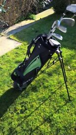 Young Guns golf bag and clubs