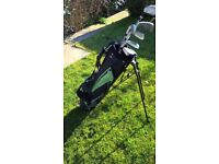 Young Guns golf bag and clubs
