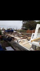 Mobile home solid steel base frame