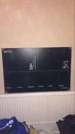 Large IKEA calendar/planner with chalk markers
