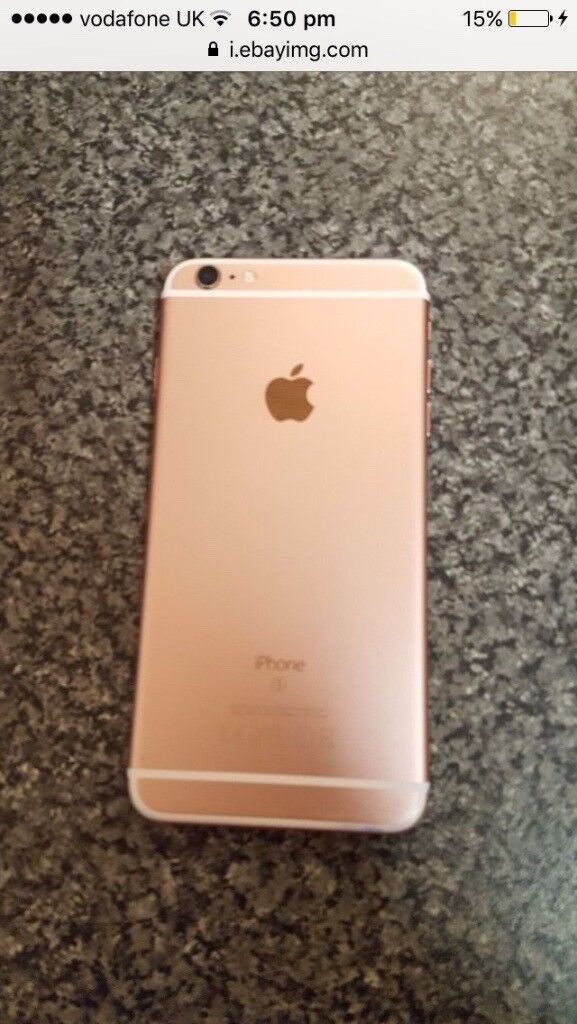 IPhone 6s rose gold 32gb small crack