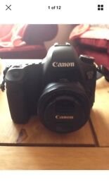 Canon 6D + External Flash + Camera Charger + USB Cable