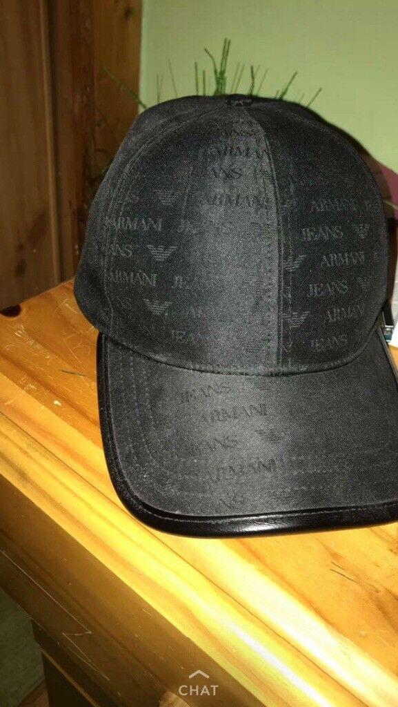 ARMANI JEANS CAP BLACK WITH TAGS (120% AUTHENTIC)  922c9521d61