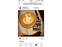 EXPERIENCED INDEPENDENT COFFEE BAR BARISTA SOUGHT.
