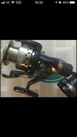New 3.3ft fishing rod & reel set. Vigor. Rapid Drake. Perfect Christmas present