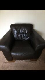 Leather chair vgc