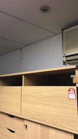 large 2 drawer tv unit