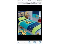 Next digger bedding and matching curtains