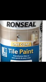 2 tins of Tile paint for sale