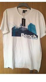Men's White Bench Tshirt