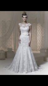 Brand new Phoenix wedding dress, lace, fishtail, with veil