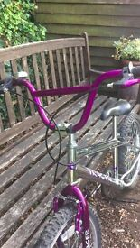Chrome and Purple BMX Bike - Great Condition