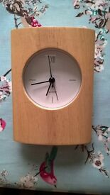Oak effect Bedside Clock in excellent condition.