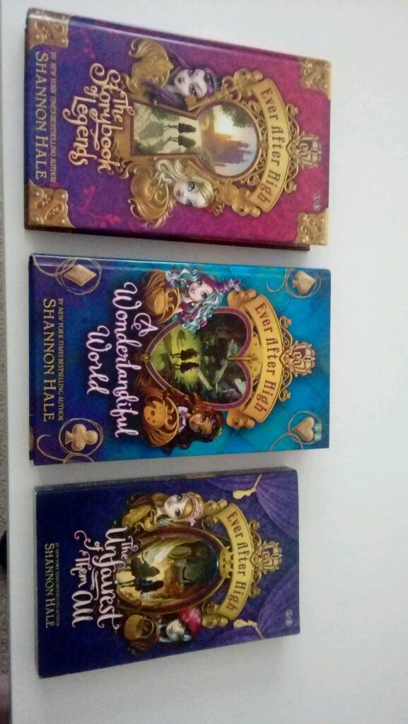 Set of Three Ever After High books