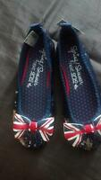 Union Jack bow girls shoes Brand new size 1