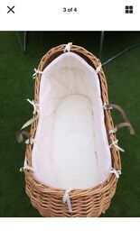 Wicker Moses basket & stand