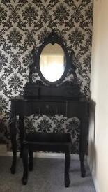Toulouse Black Dressing Table set