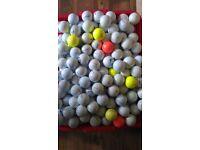 Srixon, Callaway and titileist lake golf balls