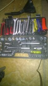 tool set spanners screwdriver