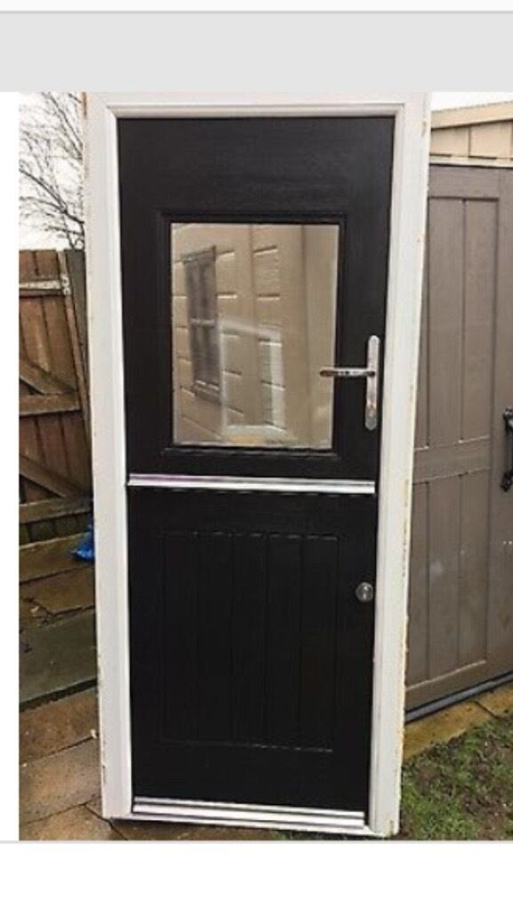 Rockdoor Stable Door For Sale Black Exterior White Interior With