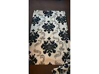 curtains 43x70 Damask pattern cream/black