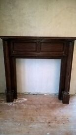 Arts and Craft period antique fireplace surround