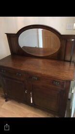 Antique chiffonier with mirror