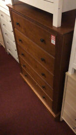 canterbury 5 drawer chest walnut