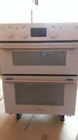 New White Hotpoint DU2540WH undercounter double oven