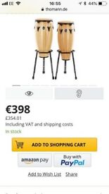 Pair of Conga drums for sale